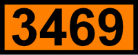 UN-Tafel 12 x 30 cm UN3469