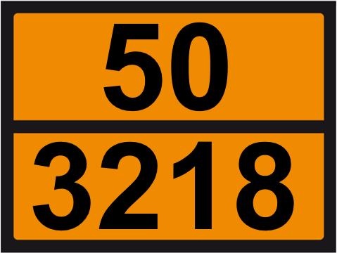 UN-Tafel 30 x 40 mit Eindruck 50 und 3218