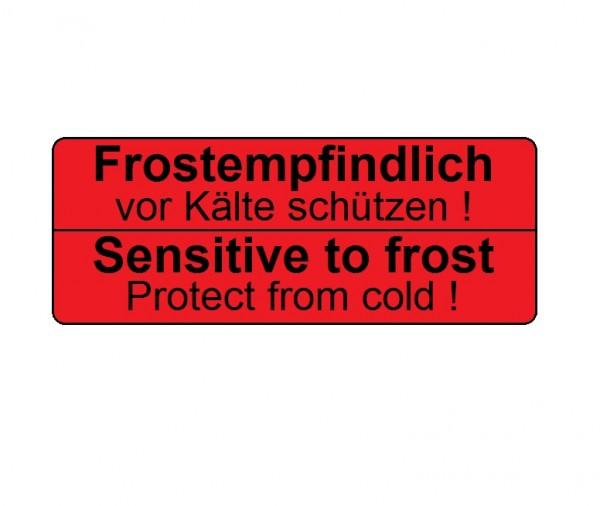 """Transportetikett """"Frostempfindlich / Sensitive to frost"""""""