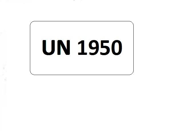 UN-Etiketten mit Eindruck UN 1950
