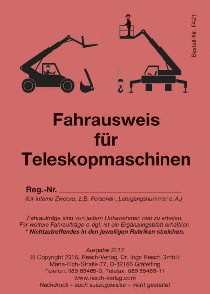 Fahrausweis für Teleskopmaschinen
