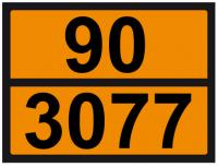 UN-Tafel 30x40 mit Eindruck 90 und 3077