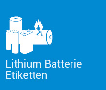 Lithium Batterie Etiketten
