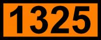 UN-Tafel 12 x 30 cm UN1325