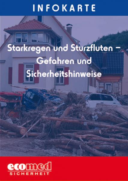 Infokarte Starkregen und Sturzfluten - Gefahren und Sicherheitshinweise