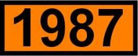 UN-Tafel 12 x 30 cm UN1987