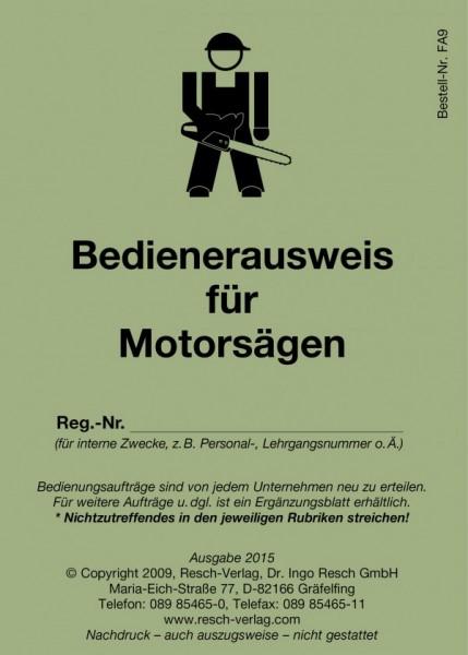 Bedienerausweis Motorsägenführer