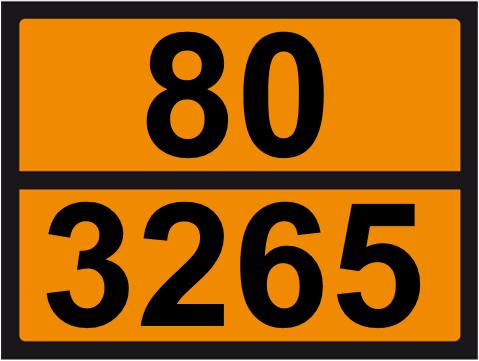 UN-Tafel 30 x 40 mit Eindruck 80 und 3265