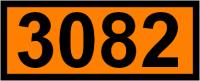 UN-Tafel 12 x 30 cm UN3082