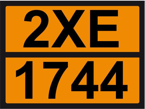 UN-Tafel 30 x 40 mit Eindruck 2XE und 1744