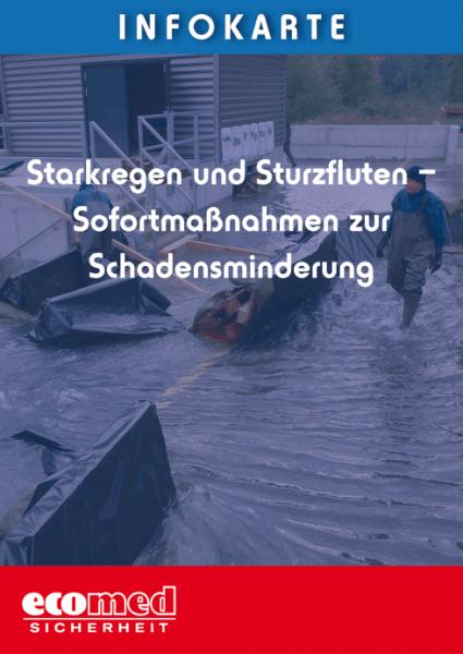 Infokarte Starkregen und Sturzfluten - Sofortmaßnahmen zur Schadensminderung