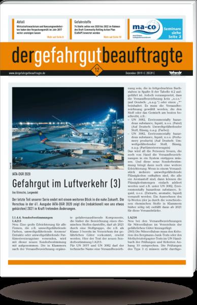 Zeitschrift Der Gefahrgutbeauftragte