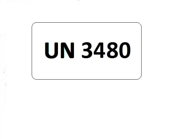 UN-Etiketten mit Eindruck UN 3480