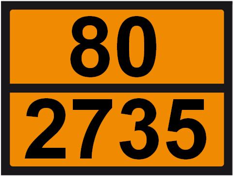 UN-Tafel 30 x 40 mit Eindruck 80 und 2735