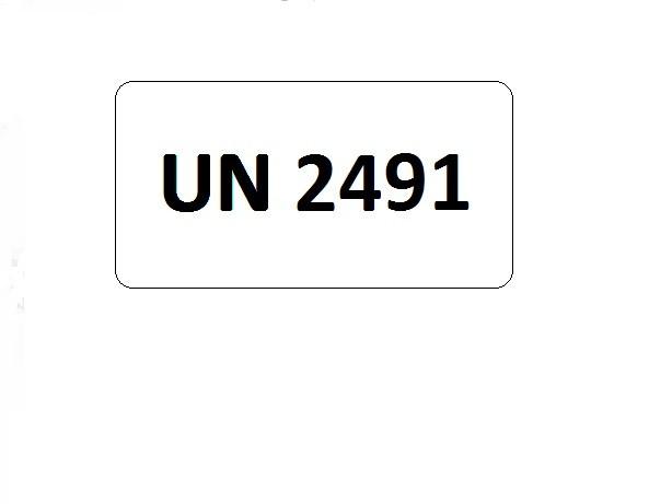 UN-Etiketten mit Eindruck UN 2491