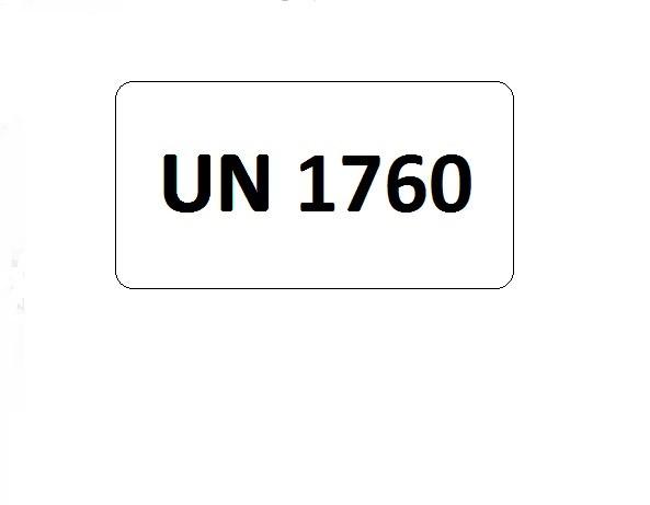 UN-Etiketten mit Eindruck UN 1760
