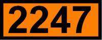UN-Tafel 12 x 30 cm UN2247