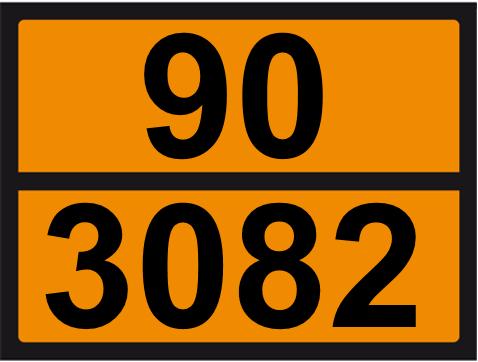 UN-Tafel 30 x 40 mit Eindruck 90 und 3082