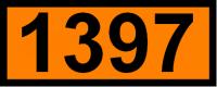 UN-Tafel 12 x 30 cm UN1397