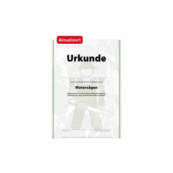 Urkunde_Motorsägen