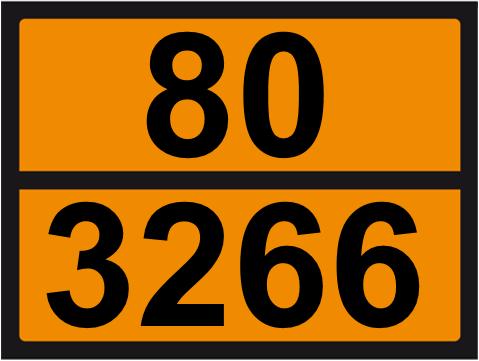 UN-Tafel 30 x 40 mit Eindruck 80 und 3266