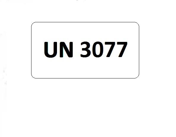 UN-Etiketten mit Eindruck UN 3077