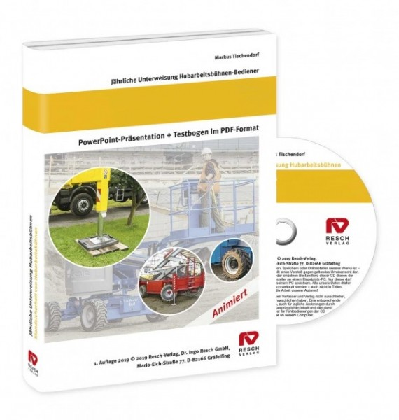Jährliche Unterweisung von Bedienern fahrbarer Hubarbeitsbühnen CD-ROM