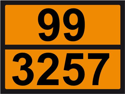 UN-Tafel 30 x 40 mit Eindruck 99 und 3257