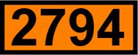 UN-Tafel 12 x 30 cm UN2794