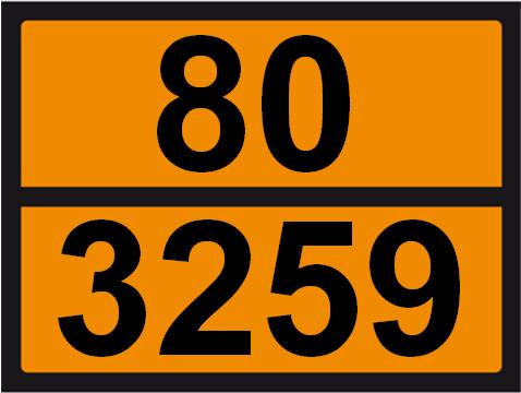 UN-Tafel 30 x 40 mit Eindruck 80 und 3259
