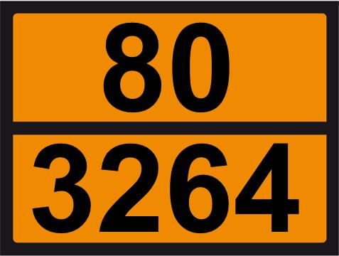 UN-Tafel 30 x 40 mit Eindruck 80 und 3264