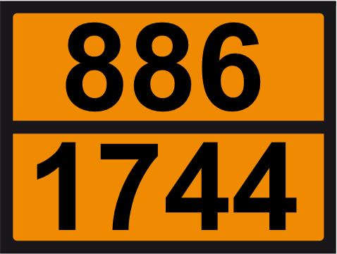 UN-Tafel 30 x 40 mit Eindruck 886 und 1744