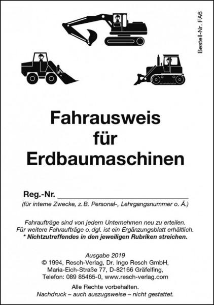 Fahrausweis Erdbaumaschinen