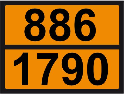 UN-Tafel 30 x 40 mit Eindruck 886 und 1790
